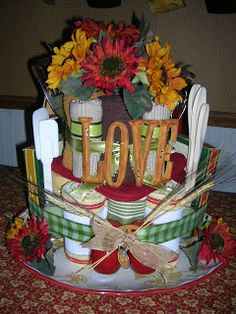 Bridal Shower Towel Cake | Searching for Serendipity: BRIDAL SHOWER CAKE