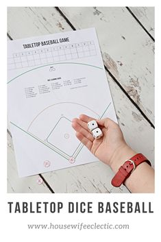 Tabletop Dice Baseball—Keeping America's Pastime Alive - Housewife Eclectic - Saying baseball is America's sport is a bit obvious, but in today's highly digitized, fast-pace - Baseball Activities, Baseball Crafts, Activities For Kids, Therapy Activities, Baseball Party Games, Basketball Games, Baseball Games For Kids, Basketball Court, Basketball Scoreboard