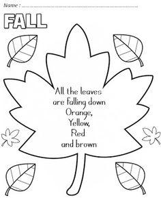 Enjoy Teaching English: FALL POEMS