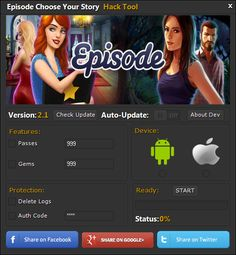 Episode Choose Your Story Hack Cheats Tool   Episode Choose Your Story Hack is Modhacks.com a new tool, that we all want to present to you. If you ever glimpse at all the other hacks on line, this amazing tool is the most effective. This specific tool was made to be functioning on Android os …