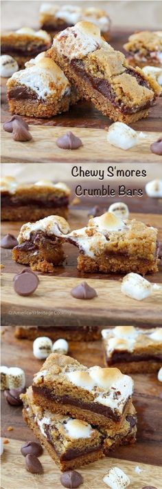 Soft Chewy Smores Crumble Bars Recipe
