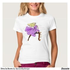 Diva In Boots T Shirts