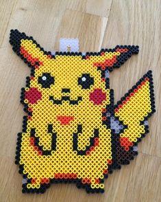 Pikachu perler beads by mathildas_perler_beads