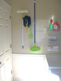 Right on the wall b4 going downstairs into the basement. Mud/laundry room ideas