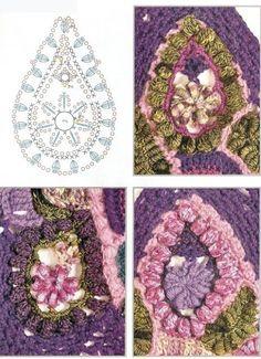 Freeform Crochet Patterns – Crochet For Beginners Crochet Cross, Crochet Art, Crochet Motif, Crochet Flowers, Free Crochet, Crochet Patterns, Crochet Stitches, Crochet Paisley, Freeform Crochet