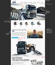 Volvo trucks website design concept v2