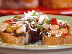 Bruschetta with White Beans, Sun-dried Tomatoes and Basil recipe from ...