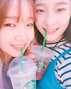 Yoojung (Fantagio Ent. trainee) & Chaeyeon (DIA) ♪ I.O.I