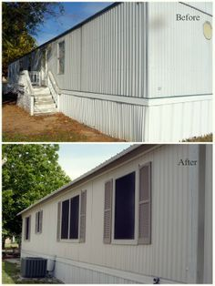 Mobile Home Exterior Facelift! This site has great before and after photos!