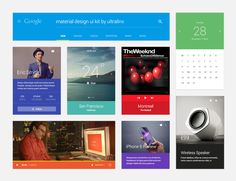 Material Design UI Kit Free PSD Eric Smith, Google Material Design, Ui Kit, Web Images, Ui Design, Free, User Interface Design