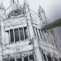Architecture Drawing Discover Pen Art By Luke Adam Hawker Pen Art By Luke Adam Hawker. Luke Adam Hawker who continues his pen art life in London describes himself as a designer. Architecture Drawing Plan, Architecture Drawing Sketchbooks, Watercolor Architecture, Landscape Architecture, Architecture Artists, Classical Architecture, Art Sketches, Art Drawings, Drawings Of Buildings