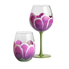 Tulip wine glasses - Pier 1