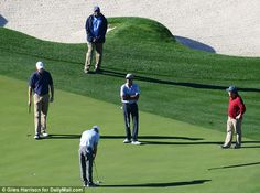 Golf at billionaire's course for Obama on his first day out of office #dailymail