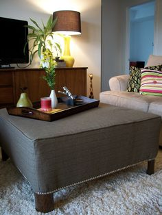 This after picture is fantastic; it was just a regular looking coffee table before.  Plain and ordinary turned practical and pleasant-looking.