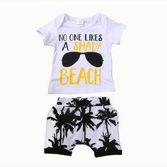 No One Likes A Shady Beach Baby Boy Summer Outfit #babyboyoutfits