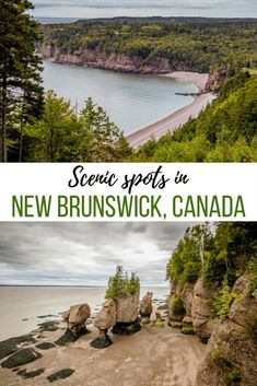 5 amazing places to visit on a southern New Brunswick road trip The famous Hopewell Rocks, Fundy National Park and cute villages of St. Martins and Alma are some great spots worth exploring in southern New Brunswick. Pvt Canada, Canada Vancouver, Visit Canada, East Coast Travel, East Coast Road Trip, Prince Edward Island, Top Travel Destinations, Places To Travel, Travel Tips