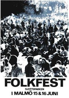 Affisch till Folkfesten 1974. Konstnär Lasse Hejll