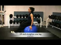 Core training using exercise ball workouts (fitball)
