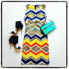 Milly tribal shift dress available at Effie's!!