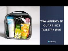Want the perfect TSA approved clear toiletry bag for your carry-on? Plus, we're giving you all the info you need about the TSA liquids rule (including the list of items allowed in your quart sized bag). Tote Bag Organizer, Handbag Organization, Travel Organization, Organizing, Packing Tips For Travel, Travel Essentials, Packing Hacks, Packing Ideas, Travel Necessities