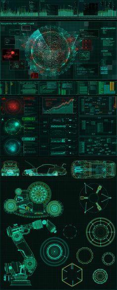 Infographics , UI Design et Web Design – Kaspersky Lab – Illustrations on Behance Web Design, Game Design, Graphic Design, Cyberpunk, Conception D'interface, Tech Art, Technology Wallpaper, Computer Setup, Ui Design Inspiration