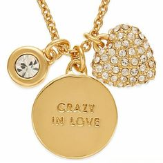 "Kate Spade Crazy in Love Gold Necklace Brand new with tags and gift box. 17"" with 3"" extender. Gorgeous! kate spade Jewelry Necklaces"