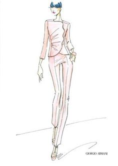 Giorgio Armani ready-to-wear capsule Collection called Giorgio Armani Nude Sketch
