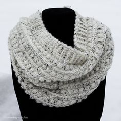 Malia Classic Cowl Crochet Pattern | Winter Cowl Scarf Crochet Pattern by Little Monkeys Crochet
