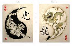 Yin Yang / Tiger Dragon - OhMiGawf. Tattoo Please? :D
