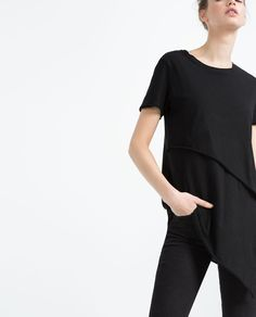 Image 3 of ASYMMETRIC T-SHIRT from Zara