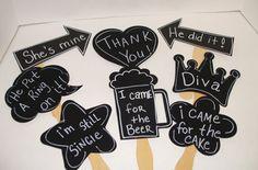 8 Hochzeit Photo Booth,Foto-Accessoires von HebeSHE auf DaWanda.com