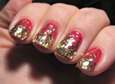 Alice in Lacquerland - Red Glitter Gradient