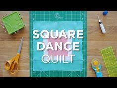 """Get the supplies here: http://bit.ly/QSsquaredance_YT Here is a fast and simple quilt that uses 5"""" Squares, 1.5"""" Strips, and 2.5"""" Strips. The finished product is surely one to dance for! Click here to"""