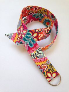 1 1/2 wide floral belt with D ring buckle by MBPDesign on Etsy