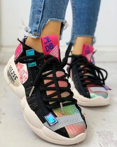 Knitted Breathable Lace-Up Casual Sneakers Nike Shoes nike sneakers Trend Fashion, Estilo Fashion, Knit Fashion, Fashion Shoes, Sneakers Fashion, Women's Fashion, Zapatillas Casual, Tenis Casual, Casual Sneakers