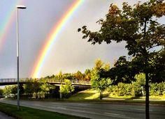Rainbow #norway #rainbow #bridge