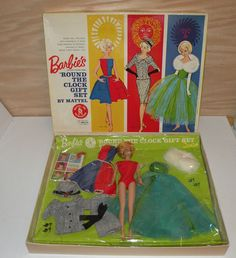 RARE VINTAGE 1013 BARBIE'S 'ROUND THE CLOCK GIFT SET, MINT IN OB, ORIGINAL