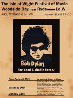 Poster Isle of Wight Festival - August 1969