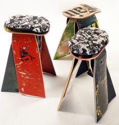 Broken skate board furniture