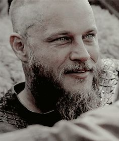 VIKINGS- Ragnar.  His eyes and whole face are so wonderfully expressive in an a very insane way!  Great actor is Travis!