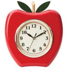 Wall Clock Apple Shaped by Brookwood - Wall Clocks