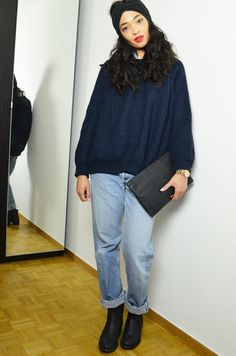 #mercredie #fashion #blogger #blog #mode #geneva #switzerland #geneve #suisse #blogueuse #bloggeuse #pull #wool #jumper #sweater #zara #navy #laine #turban #cheveux #brazilian #long #weave #hair #afro #headband #clutch #black #bcbg #maxazria #sac #leather #pochette #levis #501 #outfit #inspiration #501 #boyfriend #light #blue #chelsea #leather #boots