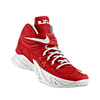 I designed the university red Nike Zoom LeBron Soldier iD men's basketball shoe with white trim to support the Alabama Crimson Tide.