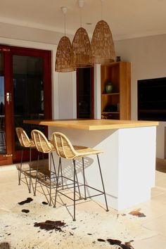 Braai and kitchen island in multi outdoor and indoor entertainment space