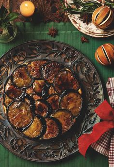 Aubergine, courgette and yoghurt upside-down cake - Yotam Ottolenghi's recipes for a vegetarian Christmas christmas food vegetarian Vegetarian Christmas Main, Veggie Christmas, Christmas Christmas, Christmas Donuts, Christmas Garden, Christmas Dishes, Christmas Crafts, Healthy Recipes, Veggie Recipes