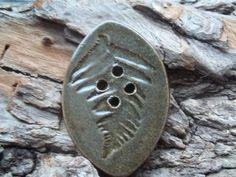 Oversized Fern leaf Button by blackmudstudio on Etsy, $12.00