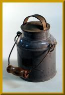 A small cream pail was often used as a lunch container by rural students.