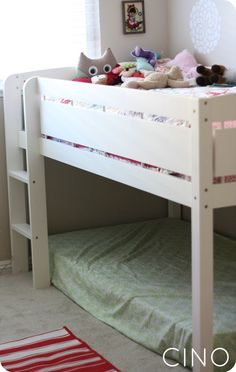 Awesome Bunk Bed, or bed with fort under. Too bad I already have one.