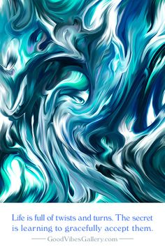 Blue & Turquoise Abstract Art Painting – Created by GoodVibesGallery.com
