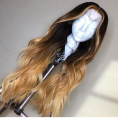 Ulovewigs Human Virgin Hair Ombre Wave Pre Plucked Lace Front Wig  Free Shipping (ULW0140)